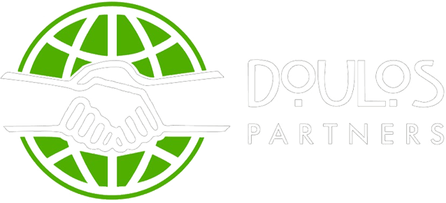 Doulos Partners Logo With White Text